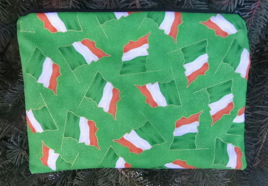 Irish Flags zippered bag, The Scooter