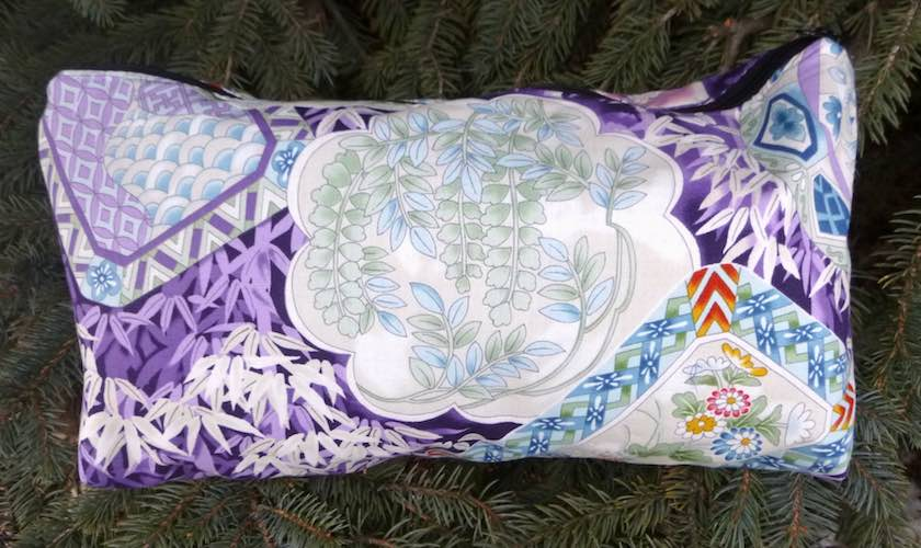 Japanese Beauty in Purple Large Zini Flat Bottom Bag