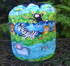 Jungle Buddies SueBee Round Drawstring Bag
