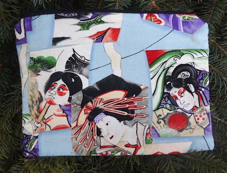 Kabuki zippered bag, The Scooter-CLEARANCE