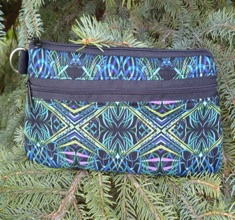 Kaleidoscope Ribbons Jasmine Clutch or Wristlet- CLEARANCE