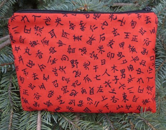 Kanji on Red zippered bag, The Scooter