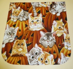 Kitties and pumpkins Pick your Size Morphin Messenger Bag Flap
