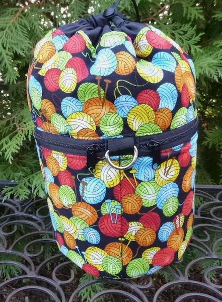 Knit Happy Yarn Kipster Knitting Project Bag