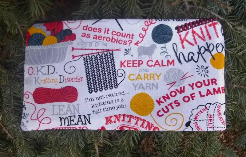 Knitting Jokes Deep Scribe pen and pencil case