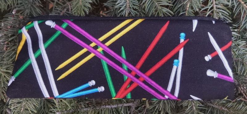 Knitting needles pen and pencil case, crochet hook pouch, The Scribe