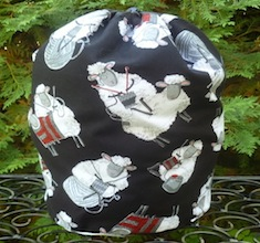 Knitting Sheep drawstring bag, The Large Suebee