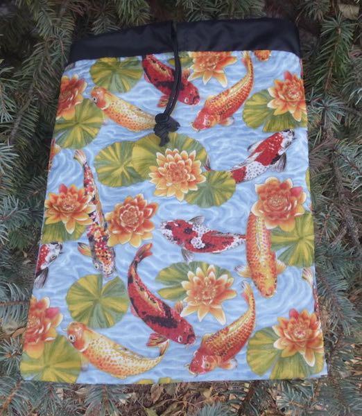 Koi Pond Flatie Jr. a flat drawstring bag
