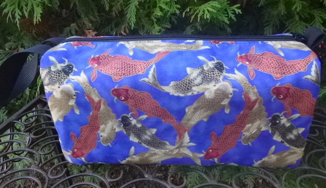 Koi on Blue Accessory Bag, The Lily