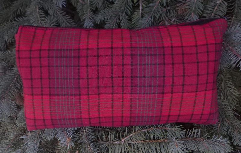 Red Plaid Large Zini Flat Bottom Bag