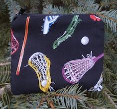 Lacrosse equipment Coin Purse, The Raven