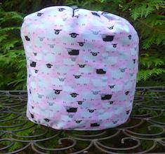 Little Sheep on pink or blue SueBee Round Drawstring Bag