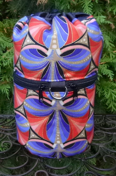 Lotus Fans Kipster Knitting Project Bag