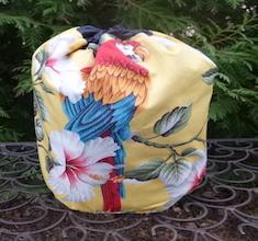 Macaw SueBee Round Drawstring Bag