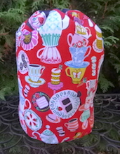 Mad Hatter's Tea Party SueBee Round Drawstring Bag