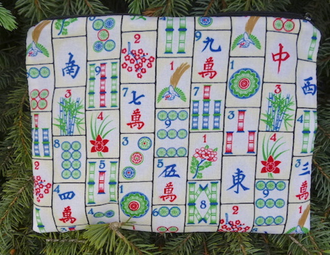 Mahjongg Slide card and coin purse, 2 fabric options
