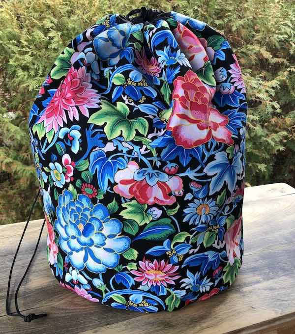 Ming Floral Alpaca Large Knitting Bag