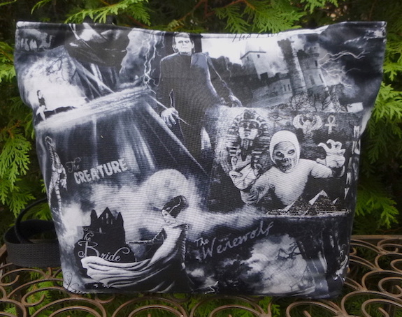 Monsters in Black and White Tootsie purse-CLEARANCE
