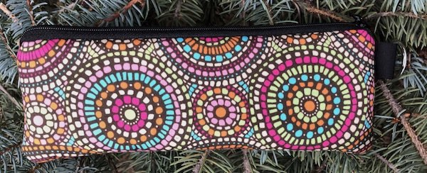 Mosaic Circles Padded Zippered Glasses Case, The Spex