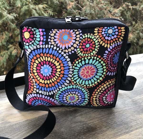 Mosaic Circles Hipster Shoulder Bag, The Otter