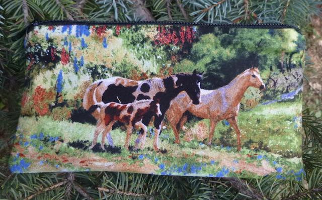 Mountain Horses Deep Scribe pen and pencil case