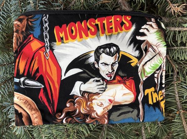 Movie Monsters zippered bag, The Scooter