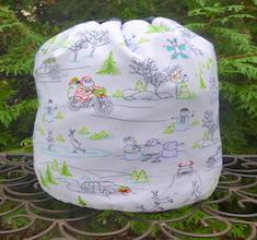 Naughty or Nice SueBee Round Drawstring Bag
