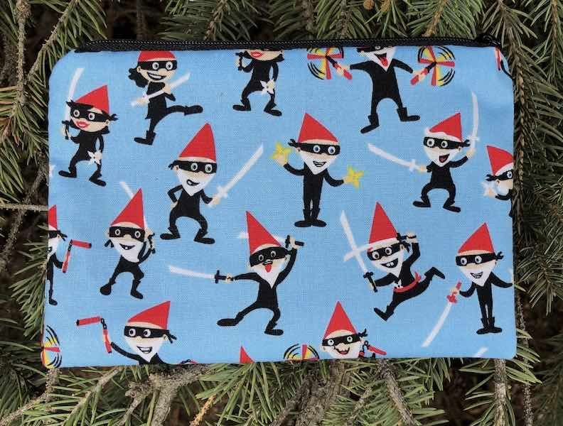 Ninja Gnomes Goldie zippered bag