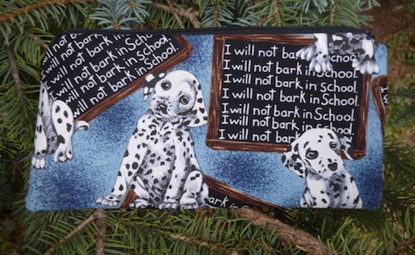 Dalmatian Don't Bark In School Deep Scribe pen and pencil case