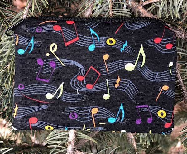 Colorful Notes Coin Purse, The Raven