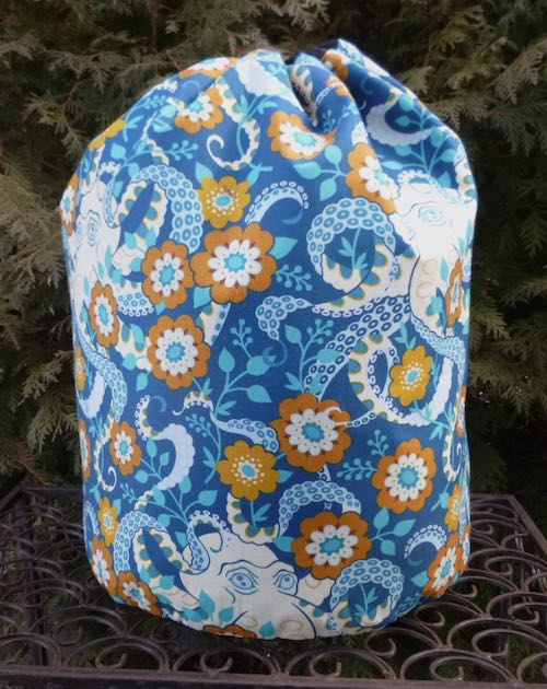 Octopus Garden Alpaca Large Knitting Bag