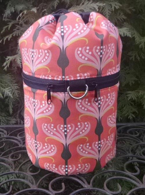 Orange Blossoms Kipster Knitting Project Bag