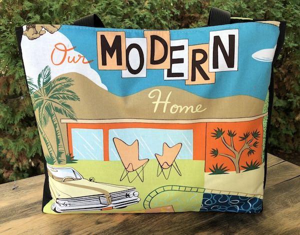 Our Modern Home Medium Fleur Tote, wide