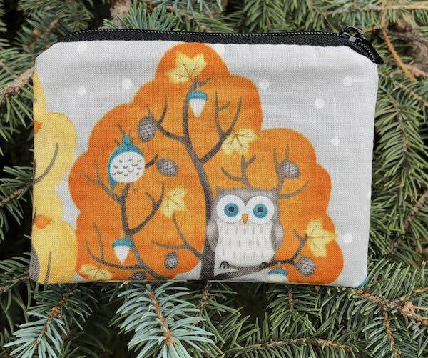 Woodland Friends Owl Coin Purse, The Raven