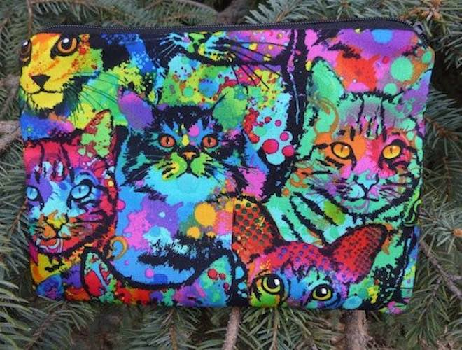 Painted Cats zippered bag, The Scooter