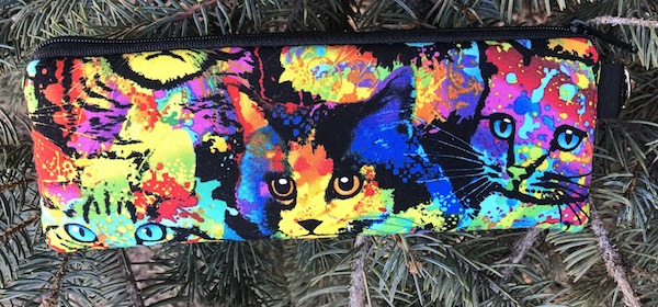 Painted Cats Padded Zippered Glasses Case, The Spex