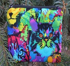 Painted Cats Coin Purse, The Raven