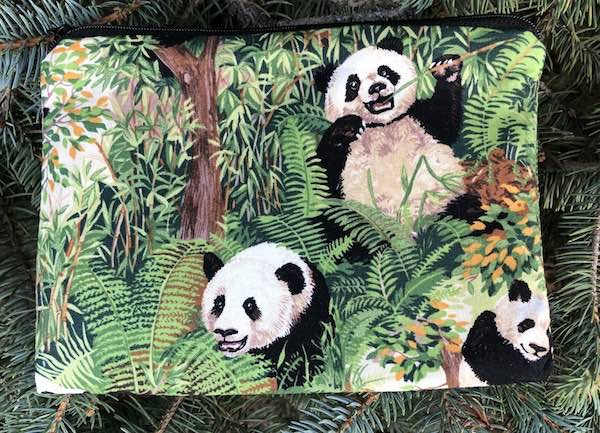 Pandas in the Wild zippered bag, The Scooter