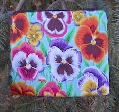 Pansies zippered bag, The Scooter