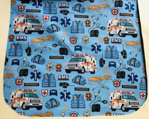 Paramedics on Blue Pick your Size Morphin Messenger Bag Flap