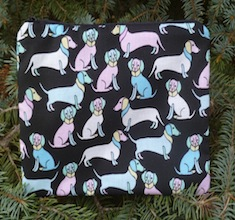 Pastel doxies zippered bag, The Scooter