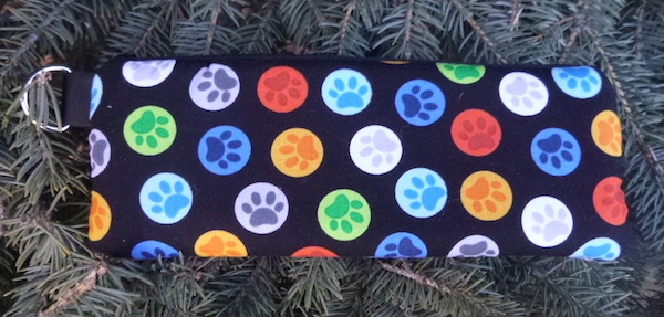 Paw Buttons Padded Zippered Glasses Case, The Spex