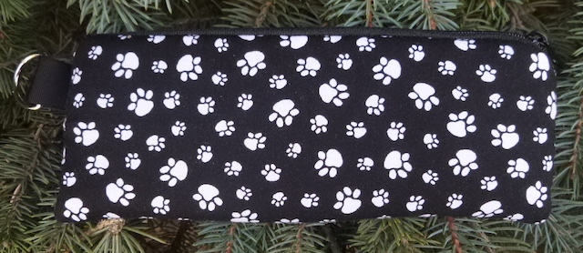 Paw Prints Padded Zippered Glasses Case, The Spex