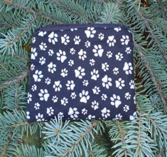 Dog paws on black Coin Purse, The Raven