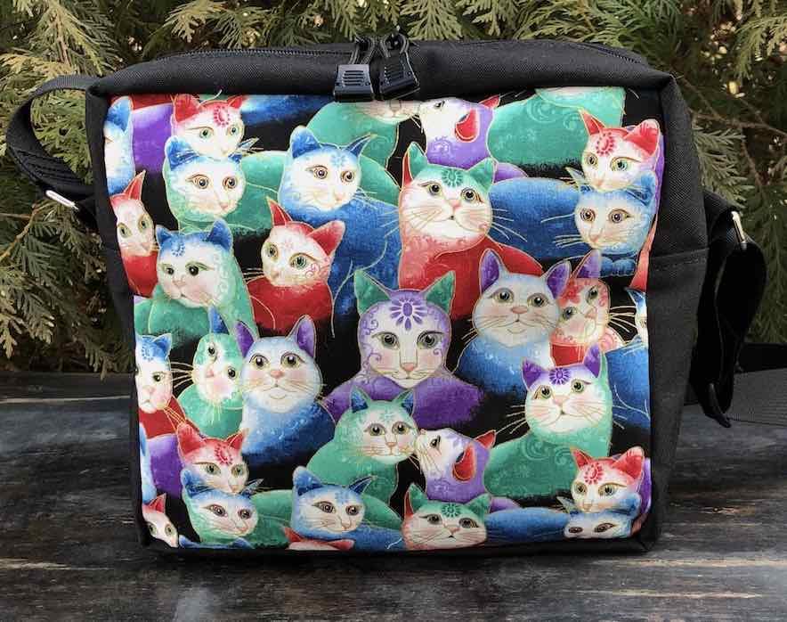 Peeping Kitties Shoulder Bag, The Raccoon Deluxe