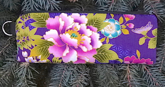 Peonies on Purple Padded Zippered Glasses Case, The Spex