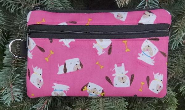 Perky Puppy Mini Wallet Purse Organizer, The Sweet Pea