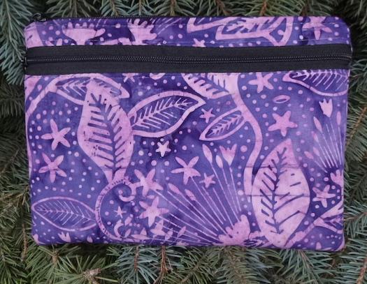 Pharaoh's Garden Morning Glory convertible clutch wristlet or shoulder bag