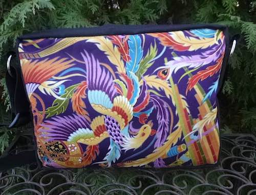 Phoenix Rising small Honeysuckle zippered tote