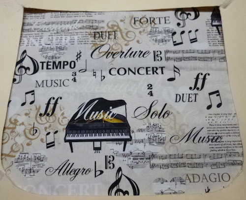 Piano Music Pick your Size Morphin Messenger Bag Flap